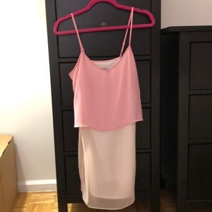 ASOS two-tone pink flowy camisole dress